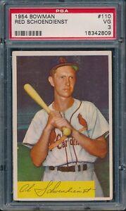 1954-Bowman-Baseball-Red-Schoendienst-110-PSA-3-CARDINALS-VG-HOF