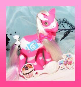 ❤️My Little Pony MLP G1 Vtg 1991 Colorswirl Ponies Springy Zebra Pink White❤️