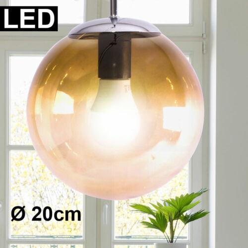 DEL verre boule pendule Lampe Retro résidentiels ESS Chambre éclairage Suspendu Lampe