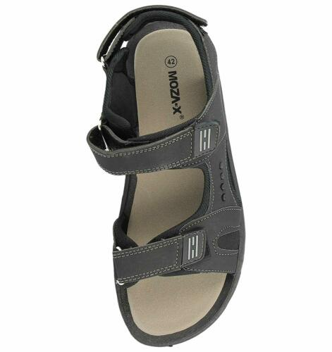 Mens Faux Leather Adjustable Touch Fasten Straps Summer Gladiator Sandals B21704