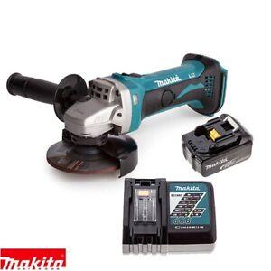 Makita-DGA452Z-Smerigliatrice-Angolare-18v-115mm-con-1-x-3Ah-Batteria-Caricabatterie
