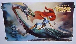 1989-Original-34x22-Marvel-Comics-Thor-poster-pinup-1-Avengers-1980s-Marvelmania