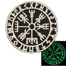 vegvisir viking compass glow dark GITD embroidered morale sew iron on patch