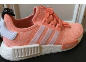 brand new 18b45 20a77 Image is loading New-Adidas-NMD-R1-Sun-Glow-Salmon-Pink-