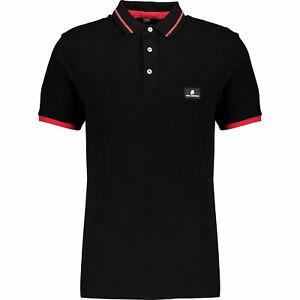 KARL-LAGERFELD-Mens-Black-Branded-Polo-Shirt-M-amp-L