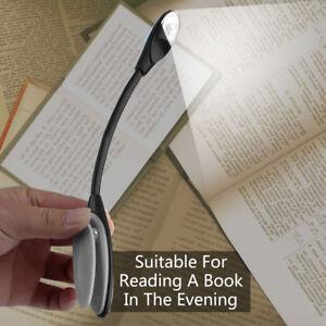 Lampe-de-lecture-a-LED-Flexible-avec-Pince-Clip-pour-Livre-Voyage-Portable-KK