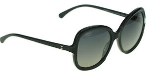 be664e2598b Image is loading POLARIZED-NEW-Authentic-CHANEL-Black-Butterfly-Glitter- Sunglasses-