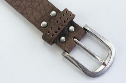 Designer Nietengürtel Basicgürtel Jeansgürtel  Damengürtel braun schlamm  #BR11