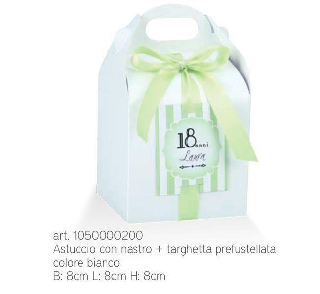 20 20 20 PEZZI SCRIGNO BIANCO perlescente scatola portaconfetti con nastro e t 045V f4114a