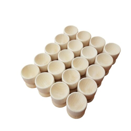Set of 100 make 100/% of Natural Wood Wooden Egg Cups