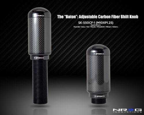 NRG Shift Knob The Baton Adjustable Shift Knob M10 x 1.25 Part # SK-550CF-1