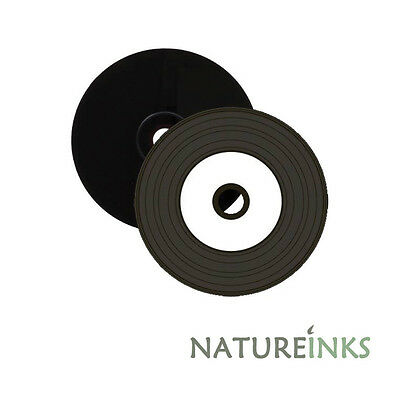 10 Black Bottom Vinyl look CD-R White Printable Blank discs CD R 52x 700MB MR226