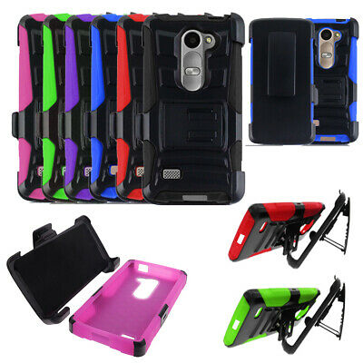 finest selection 4f5cb 5ccfc Phone Case For LG Sunset LTE / LG Leon LTE Rugged Cover Stand with Holster  Clip | eBay