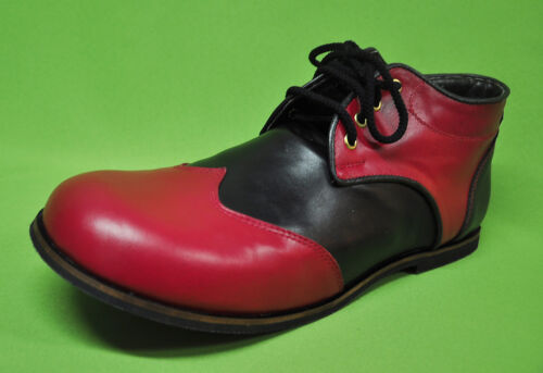 ZH004 ZYKO Professional Real Leather Clown Shoes Chaplin  model Red//Black