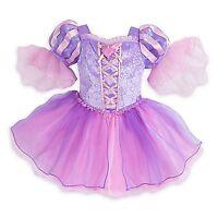Disney Store Rapunzel Tangled Princess Deluxe Dress Baby Girl Costume Halloween