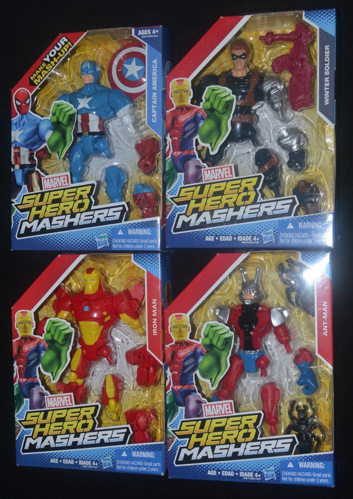 Marvel Super Hero Mashers CAPTAIN AMERICA, WINTER SOLDIER, IRON MAN & ANT-MAN