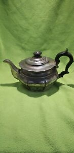 Antique-Pewter-Tea-Pot-I-Vickers-late-17th-Century-Bakerlite-handle-amp-finial