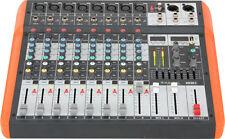 IBIZA MX802 8-CH MUSIC SOUND AUDIO BAND DJ DISCO MIXER WITH USB & BLUETOOTH