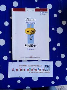 Libro-Teatro-AULULARIA-Plauto-L-039-AVARO-Moliere-Ed-Mondadori-Ottime-Condizioni