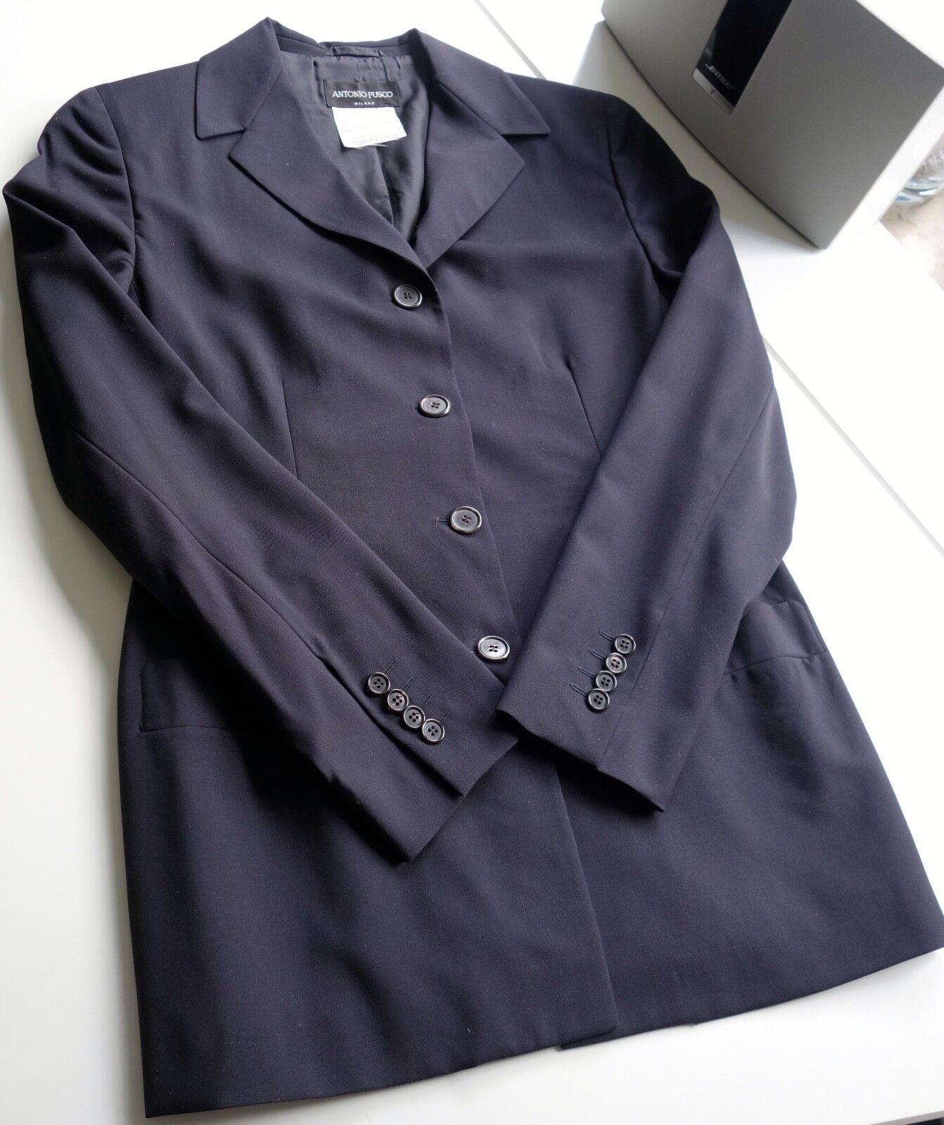 Antonio Fusco  -  Hosenanzug  -  blauschwarz -  Größe 40  (IT 46) | Shopping Online  | Modern Und Elegant In Der Mode  | Ausgezeichnetes Handwerk  | Stil  | Exzellente Verarbeitung