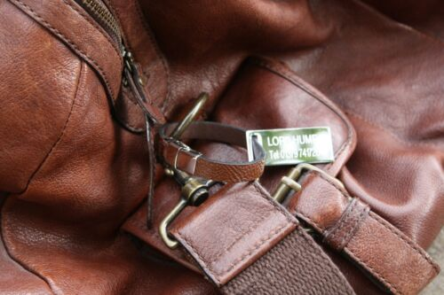 Liguria Drapeau cuir Luggage Tag en acier gravé texte