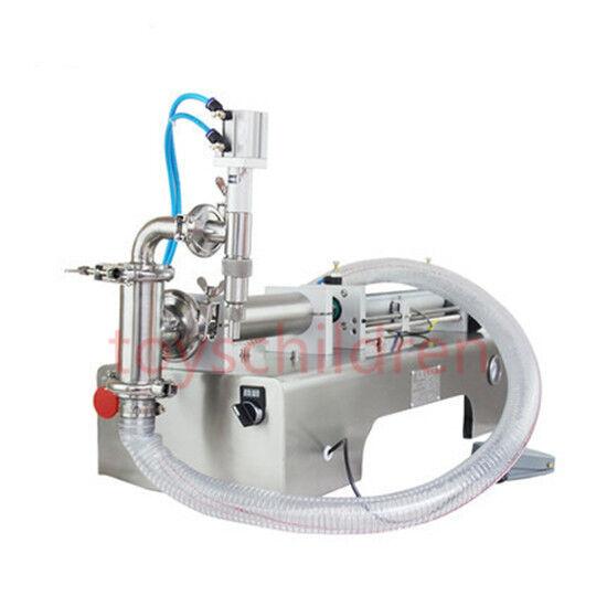 pneumatic liquid filling machine,piston filler for shampoo,oil,water 1000ml