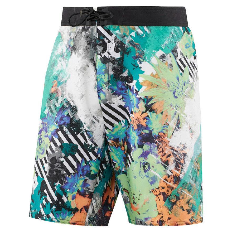 uomo Reebok CrossFit short NASTY Pantaloncini A Fiori Sports TRAINING ALLENAMENTO