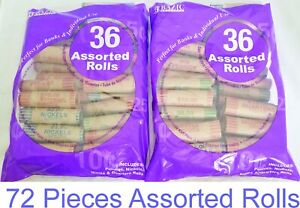 72-Rolls-Preformed-Assorted-Coin-Wrappers-Tubes-Nickels-Quarters-Dimes-Pennies