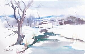 Bernard-Gerstner-ORIGINAL-painting-artist-signed
