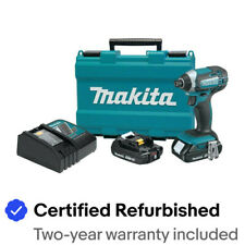 "Makita XDT11RR 18V 2 AH LI-ION 1/4"" HEX IMPACT DRIVER KIT Certified Refurbished"