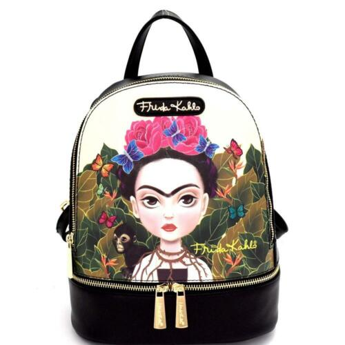 Authentic Cartoon Version Frida Kahlo Front Pocket Backpack
