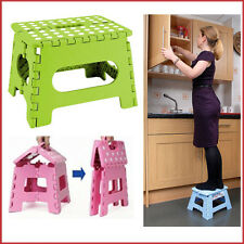 Light Domestic Use Folding Step Stool Plastic Construction Easy Storage DOTTED