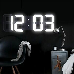 Digital-LED-3D-Night-Wall-Clock-Alarm-Snooze-12-24Hour-Display-Temperature-USB