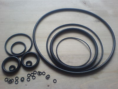 O-Ring - Rundring - Dichtring  Schnurdicke 2,00 mm NBR70  2 bis 145 mm Innen-Ø