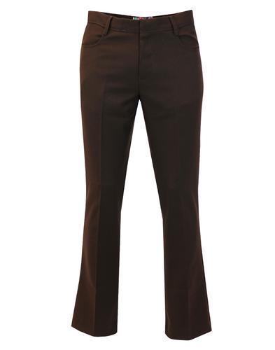 70s Madcap Logan Bootcut Nouveau Pantalon En Hopsack Angleterre Mens Retro Brun Mc265 fBtXwxqw