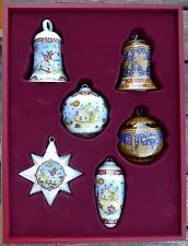 HUTSCHENREUTHER WEIHNACHTEN 2000 Lim. Ed. CHRISTMAS 6x ORNAMENT PORCELAIN GLASS