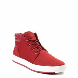fb021a85412 Details about Timberland Men's Davis Square Plain Toe Chukka Casual in  Burgundy (TB0A1TX8)