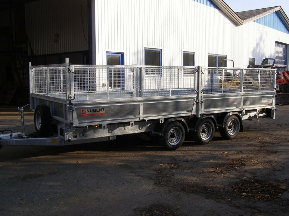 Trailer, Fabriksny Nugent - SAGA F 5523 T ladtrailer,
