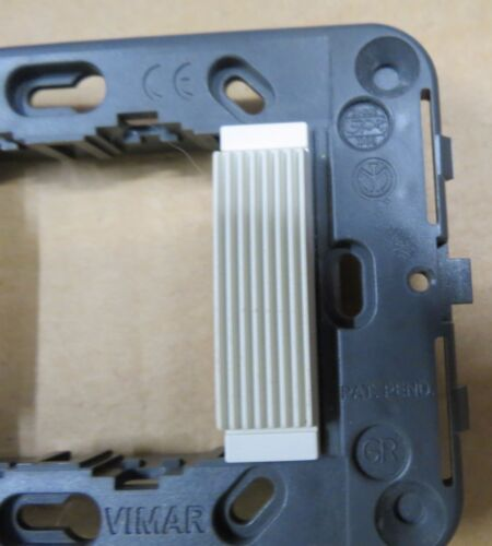 IDEA VIMAR MOUNTING FRAME with SMOOTH FRONT WHITE #16722.L.B 2 MODULES