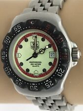 Tag Heuer Ladies Watch 371.508 Formula One F1 Red Cream Black Quartz SS (N1042)