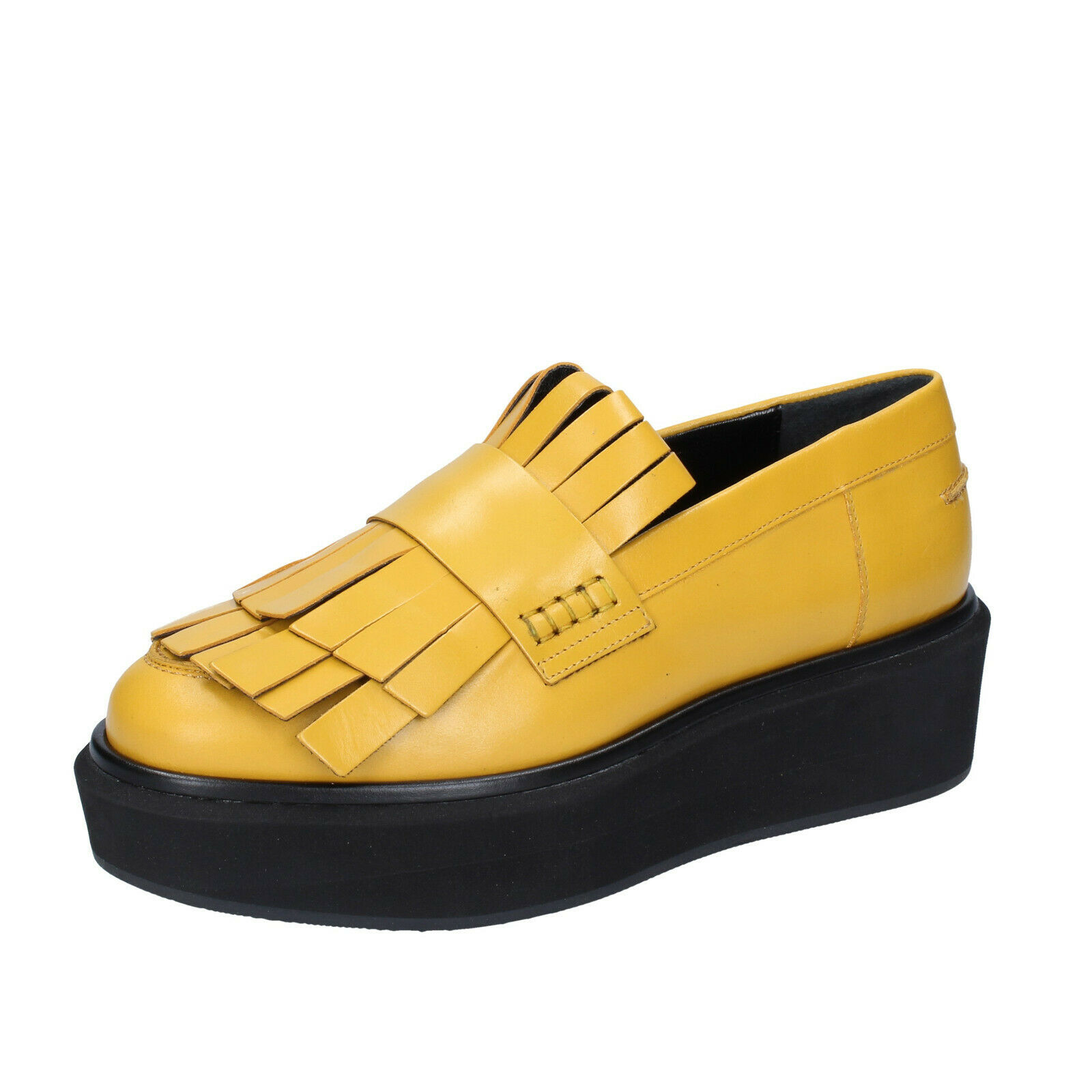 Ladies scarpe Paloma Barcelo ' 40  EU Moccasines giallo Leather BS643 -40  varie dimensioni