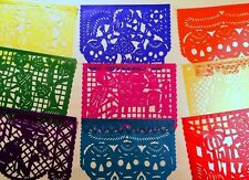 Authentic Handcut Mexican Papel Picado Banners Day of the Dead 15ft long