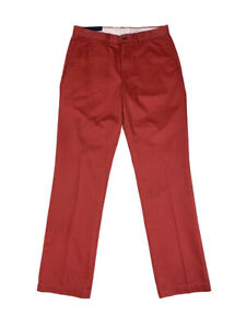 Ralph-Lauren-Polo-Mens-Flat-Front-Chino-Pants-Red-New