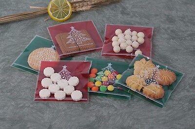 Beutel Opp Tüten Geschenktütchen Weihnachten Selbstklebend Plätzchen Tannenbaum