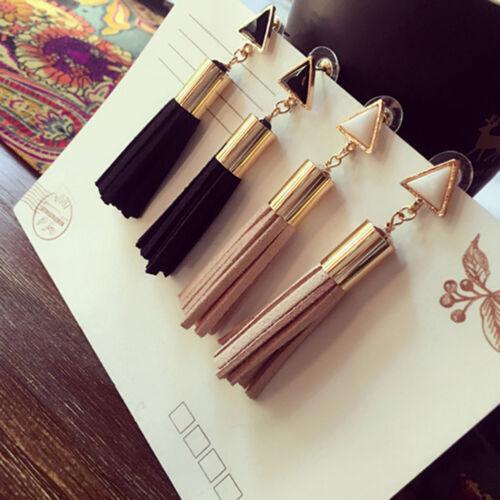 Tassel Earrings Womens Fashion Boho Long Dangle Drop Silk Bohemian Ear Stud 6A