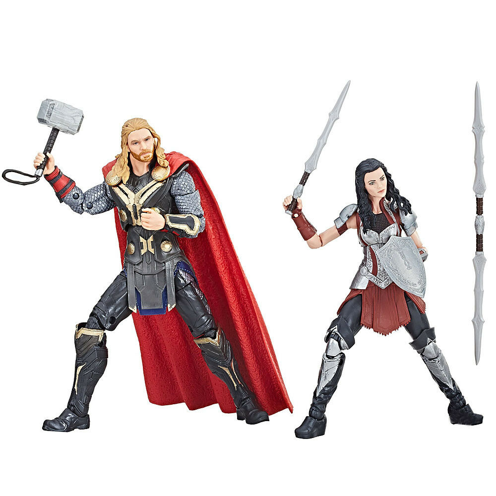(No Box) Hasbro Marvel Legends 10th Anniversary The Dark World Thor & Sif New