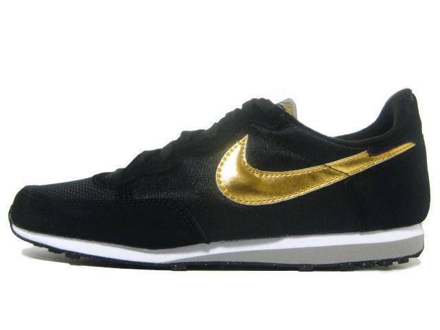 Nike Challenger Neu Gr 39 US 6,5 Schuhe Turnschuhe Schwarz Gold Retro Farben