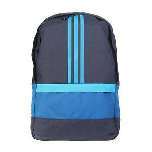 e8905b0eb8569 Das Bild wird geladen adidas-Rucksack-Blau-viele-Faecher -Sportrucksack-Tasche-Fitness-