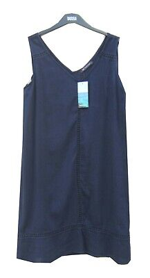 Marks & Spencer Navy Blue Cheesecloth Dress Size 12 Slip On Beachwear