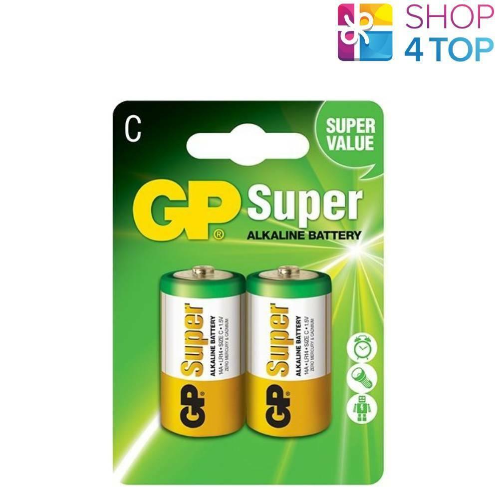 2 gp super C Alkaline Battery 14a lr14 1.5v no mercury and cadmium Exp 2025 new